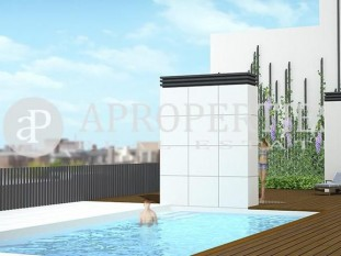 Exclusive brand new apartment development with communal swimming pool in Eixample for sale